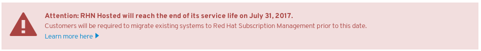 Redhat RHN warning